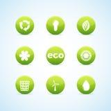 Het pictogram van de ecologie dat voor groen ontwerp wordt geplaatst stock illustratie