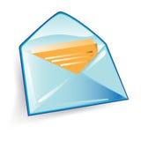 Het pictogram van de envelop Stock Fotografie