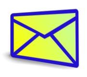 Het pictogram van de envelop Royalty-vrije Stock Foto's