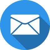 Het pictogram van de envelop Verzend e-mailberichtteken Internet-postsymbool Royalty-vrije Stock Foto's