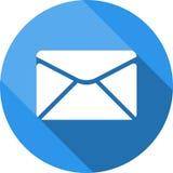 Het pictogram van de envelop Verzend e-mailberichtteken Internet-postsymbool Stock Fotografie