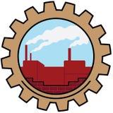 Het pictogram van de fabriek Stock Foto's