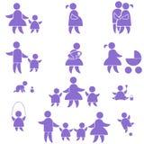 Het pictogram van de familie. reeks Royalty-vrije Stock Afbeeldingen