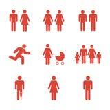 Het pictogram van de familie Vlakke ontwerpstijl Stock Foto's