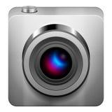 Het pictogram van de fotocamera Stock Foto