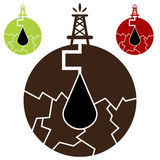 Het Pictogram van de Frackingsolie Stock Afbeeldingen