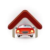 Het pictogram van de garage vector illustratie