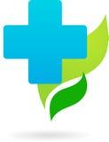 Het pictogram van de geneeskunde en van de aard/embleem Royalty-vrije Stock Foto's