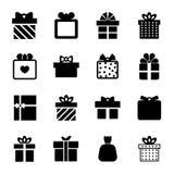 Het pictogram van de giftdoos royalty-vrije illustratie