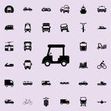 het pictogram van de golfmachine Voor Web wordt geplaatst dat en het mobiele algemene begrip van vervoerpictogrammen stock illustratie