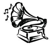 Het pictogram van de grammofoon Royalty-vrije Stock Afbeeldingen