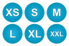 Het pictogram van de grootte Stock Foto's
