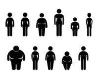Het Pictogram van de Grootte van het Cijfer van het Lichaam van de vrouw Stock Foto