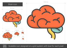 Het pictogram van de hersenenlijn royalty-vrije illustratie