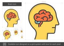 Het pictogram van de hersenenlijn stock illustratie
