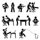Het Pictogram van de het Bureaupret van de werknemersarbeider Stock Afbeeldingen