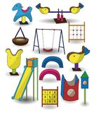 Het pictogram van de het parkspeelplaats van het beeldverhaal Stock Afbeelding