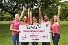 Het Pictogram van de het Welzijnsliefdadigheid van steunschenkingen stock foto