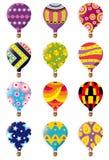 Het pictogram van de hete luchtballon Stock Fotografie
