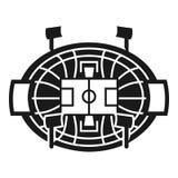 Het pictogram van de hockeyarena, eenvoudige stijl royalty-vrije illustratie
