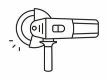 Het pictogram van de hoekmolen Royalty-vrije Stock Foto