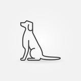 Het pictogram van de hondlijn vector illustratie