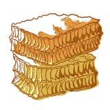 Het pictogram van de honingraatbij, zoete gezonde natuurvoeding royalty-vrije illustratie