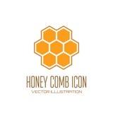 Het pictogram van de honingskam Royalty-vrije Stock Fotografie