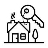 Het pictogram van de huissleutel royalty-vrije illustratie