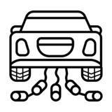 Het pictogram van de huwelijksauto stock illustratie