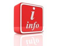 Het pictogram van de informatie Stock Foto's