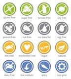 Het pictogram van het de informatieetiket van de voedselbeperking vector illustratie