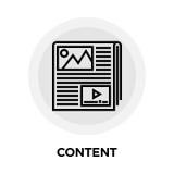 Het Pictogram van de inhoudslijn royalty-vrije illustratie
