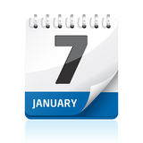 Het pictogram van de kalender Stock Afbeeldingen