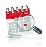 Het pictogram van de kalender Stock Fotografie