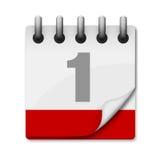 Het pictogram van de kalender Stock Foto's