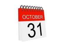 Het pictogram van de kalender op de witte achtergrond. Halloween Royalty-vrije Stock Foto's