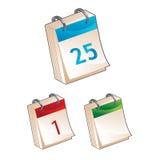 Het pictogram van de kalender - vectorillustratie Stock Foto