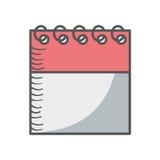 Het pictogram van de kalenderdatum Royalty-vrije Stock Foto's