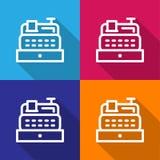 Het pictogram van de kassiersmachine groot voor om het even welk gebruik Vector eps10 Royalty-vrije Stock Fotografie