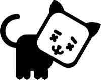 Het pictogram van de kat Stock Afbeelding