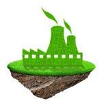 Het pictogram van de kernenergieinstallatie Stock Afbeeldingen