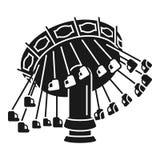 Het pictogram van de kettingscarrousel, eenvoudige stijl vector illustratie