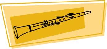 Het pictogram van de klarinet Stock Foto