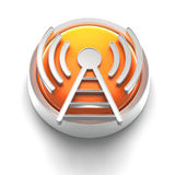 Het Pictogram van de knoop: WiFi Royalty-vrije Stock Foto's