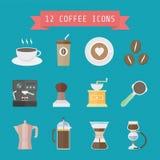 Het pictogram van de koffie Stock Afbeeldingen