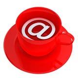 Het Pictogram van de Koffie van Internet Stock Foto