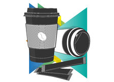 Het pictogram van de koffiekop Royalty-vrije Stock Foto