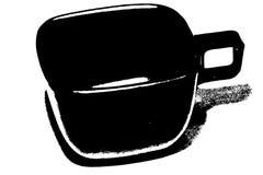 Het pictogram van de koffiekop royalty-vrije stock afbeelding