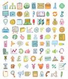 Het pictogram van de krabbelbank, hand getrokken illustratie Stock Afbeelding